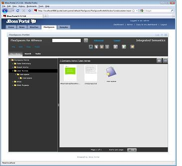 FlexSpaces JBoss Portal portlet